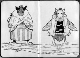 [sketchbook] Owls by JessicaKKowton