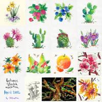Plants sketches by JessicaKKowton