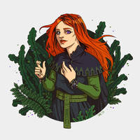 Portrait with plants by JessicaKKowton