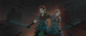 Saskia and Iorveth by JessicaKKowton