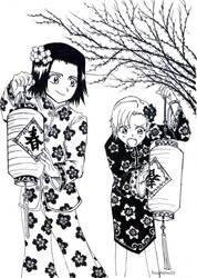 Yuzuu and Karin by Toushirou10