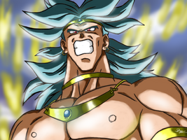 Broly In Bloodrage SuperSaiyan by ShynTheTruth