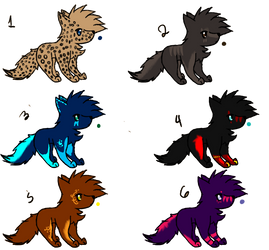 wolf adoptables 4 LEFT by silveradopt