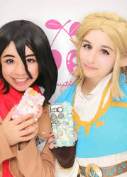 Mikasa and Zelda by Akarui-Sakura