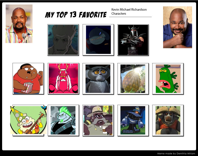 My Top 13 Favorite Kevin Michael Richardson Roles By Ajpokeman On
