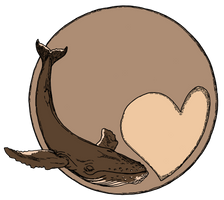 Pluto Heart and Whale T-Shirt by PeterDonahue