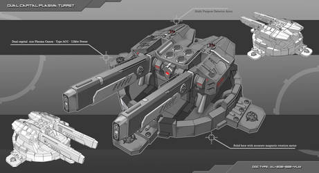 Capital Ship Plasma Turret by Lock-Mar
