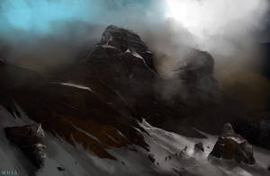 Mountain scribble by Mull-Art