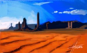 15 minute landscape study by Grieverjoe