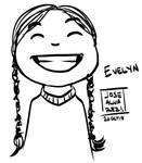 Inktober - Evelyn by Grieverjoe