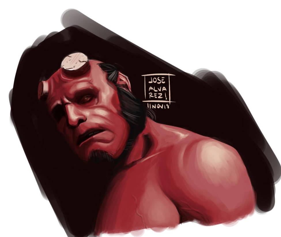 Hellboy sketch by Grieverjoe