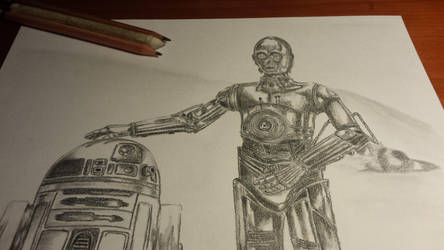 Star Wars: C3PO and R2D2 by AlvaroGJ