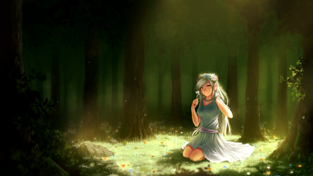 Forest Glade by Juh-Juh