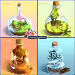 Seasons in a Bottle - Rough Ideas by Juh-Juh