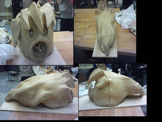 Deku link clay mask WIP by Meandmyshadowclones