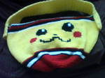 Crocheted Pikachu bag by happydoo2