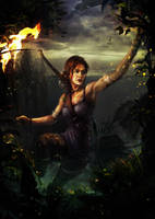 Light in the dark - Lara Croft by Wonderis