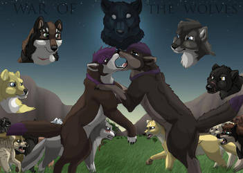 War of the wolves by brownwhisker