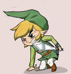 Toon Link's Struggle by S-K-Sama