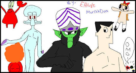 iScribble Naked Cartoons by MurrehDeex