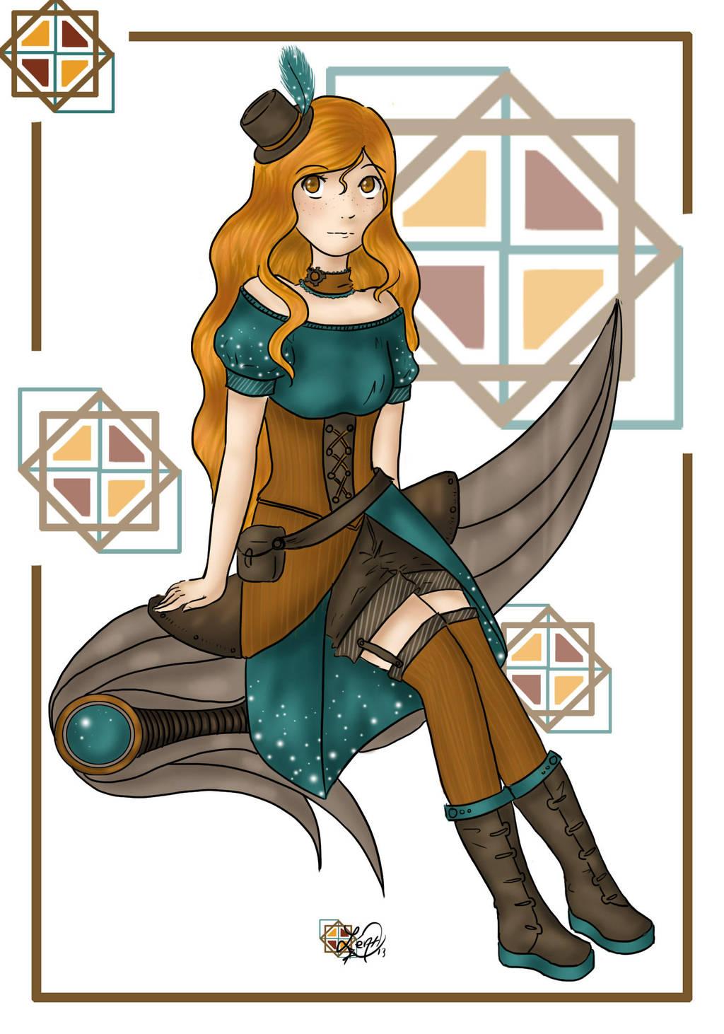 Steampunk girl by LittleStar-Fish