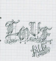 Tattoo Lettering 15 Love by 12KathyLees12