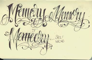 Memory Lettering by 12KathyLees12