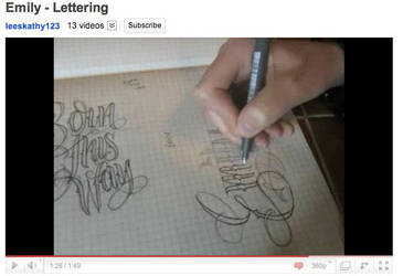 Emily Lettering tutorial by 12KathyLees12