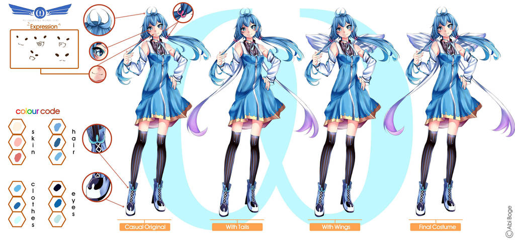 Aw - Chan character Design by abiboge