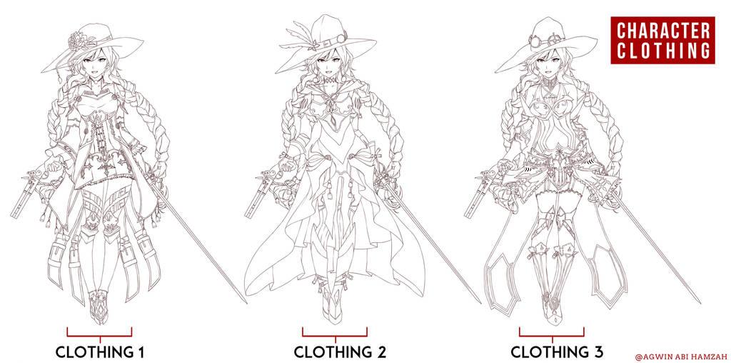 Skect Costume Line art by abiboge