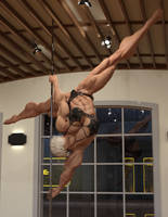 Sonya Learing to Pole Dance Part 2 by ReddofNonnac