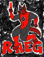 Scribble commish: Red wolf, red ring by Luprand