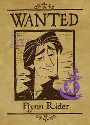 Tangled the Series Flynn Rider Wanted Poster by Lokotei