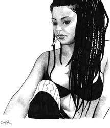 Len Locita, ink on paper. by fabiovalentini