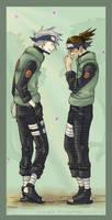 Haru Urara: Kakashi and Iruka by flightangel