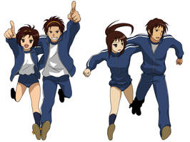 3 Legged Race by Kyonoko
