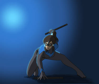 Nightwing Korra coloured by FSEffect