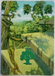 Altered MTG Card - Forest2 by DarkPati