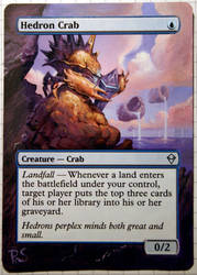 Altered Card - Hedron Crab 2 by DarkPati