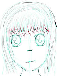 Anime Face - Unfinished by justicenotjustwater