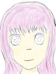 Anime Face2 by justicenotjustwater