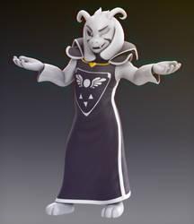 Asriel Dreemurr  - Undertale model by Elesis-Knight