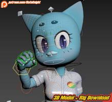 Nicole Watterson - 3D Model + Rig Download by Elesis-Knight