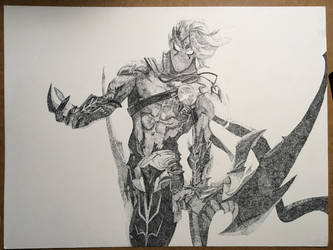 Varus new splash art stippled by zackiskip
