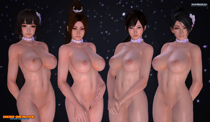 DOA Topless Photoshoot: The Beautiful Four (v2) by ShadowNinjaMaster