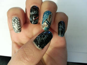 Jaejoong Mine Nail Art (left hand) by yuuko777