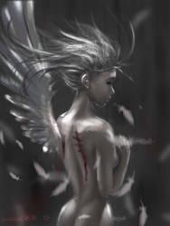 falling angel  by Sparoapple