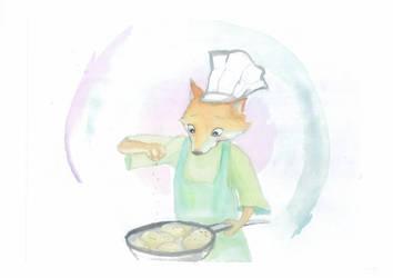 cooking fox by Sparoapple