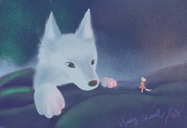 white wolf  by Sparoapple