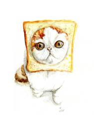 Bread Cat by Shaian